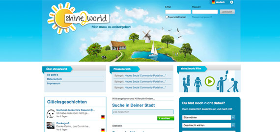 Individuelle Softwareentwicklung der Social Community Shine2World